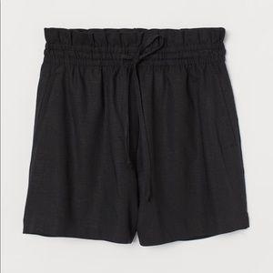 H&M Linen-blend Shorts High Waist